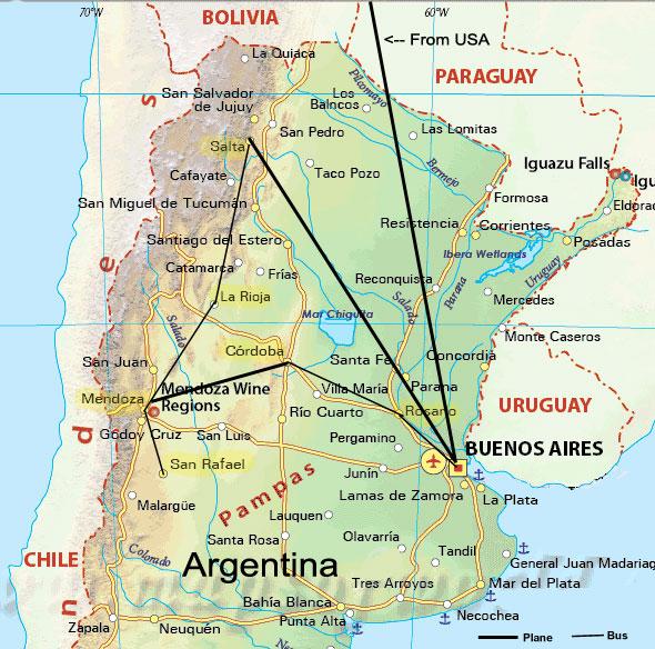 Argentina Winter - Argentina map salta